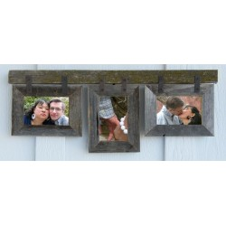 Conestoga Barnwood Mixed Collage Frames for (3) 5 X 7 photos