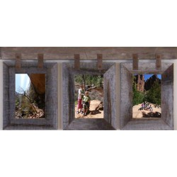 Vertical Basic Barnwood CONESTOGA Collage for (3) 5 X 7 pictures
