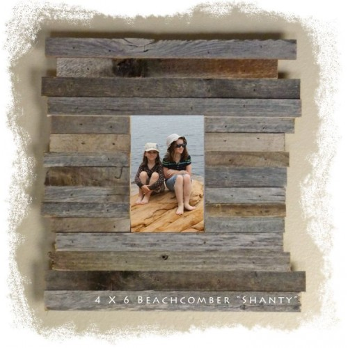 "4 X 6 (4.75"") Beachcomber ""Shanty"" Reclaimed Wood Picture Frames"