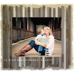 """12 X 18 (4.75"""") Beachcomber """"Shanty"""" Reclaimed Wood Picture Frames"""