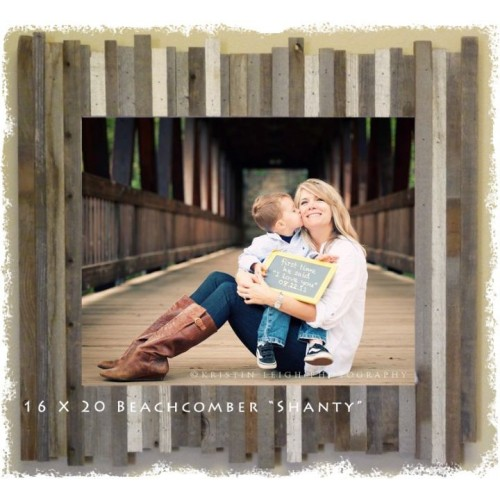 "20 X 24 (4.75"") Beachcomber ""Shanty"" Reclaimed Wood Picture Frames"