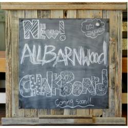 """20"""" Rustic Barnwood Magnetic Chalkboard"""