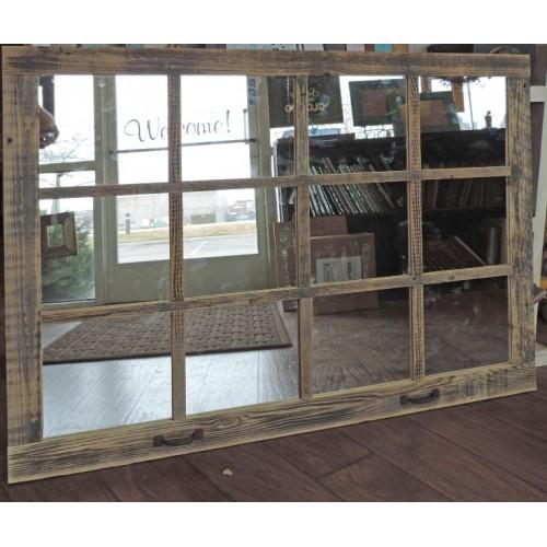 "46"" X 36"" Homesteader Style 12-Pane Window Mirror"