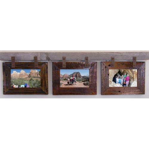 Montana Horizontal Conestoga Collage Frame for (3) 5 X 7s