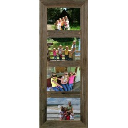 "Vertical Barnwood Panel frame for (4) 5"" X 7"" Pictures"