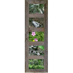 Vertical Barnwood Panel Frame for (6) 4 X 6 Pictures