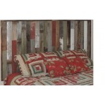 """Rustic Full Size Bed Reclaimed Wood Headboard (61.5"""" X 37.5""""). Wallmounted. Your Choice of Accent Colors"""