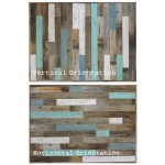 "Rustic Queen Bed Headboard (67.5"" X 37.5"") made of Reclaimed, Recycled Barn Wood. Wallmounted. Your Choice of Accent Colors"