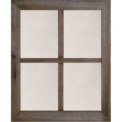 "2"" Medium 4-Pane Barn Window Mirror"