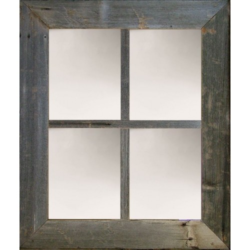 "3"" Large 4-Pane Barn Window Mirror"