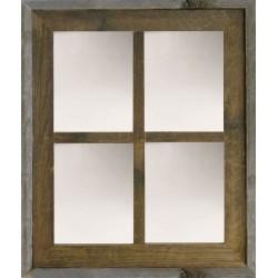 Narrow Western Medium 4-Pane Barn Window Mirror