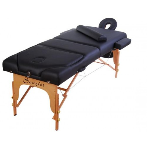 "HomCom 3"" Portable Folding Reiki Massage Table w/ Carrying Case - Black"
