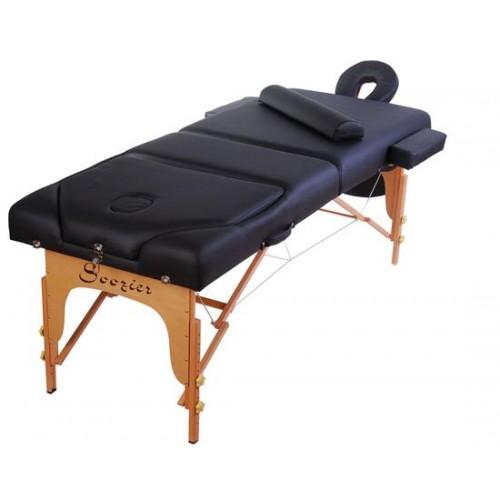 "HomCom 3"" Portable Folding Reiki Massage Table w/ Carrying Case - Black"