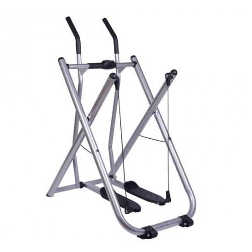 Soozier Folding Fitness Glider Machine Ellipticals Trainer W/ Pedometer