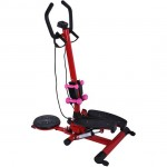Soozier Twist Stepper Aerobic Exercise Cardio Machine LCD Screen Dumbbells