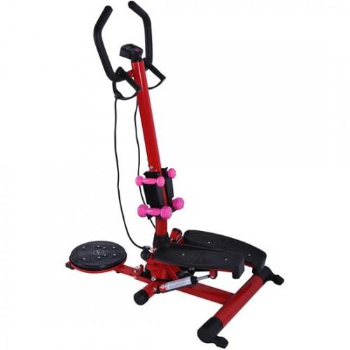 Soozier Twist Stepper Aerobic Exercise Cardio Machine LCD Screen Dumbbells