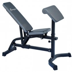 Soozier Incline / Flat Exercise Weight Bench w/ Preacher Curl Station