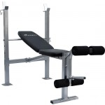 Soozier Incline / Flat Exercise Free Weight Bench w/ Leg Extension
