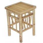 Bamboo pedestal stool Set of 2