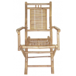 Bamboo folding chairs with arms
