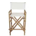 Bamboo folding canvas bar stool choose from 8 colors