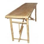 Bamboo long folding table