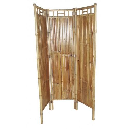 Bamboo three panel screen