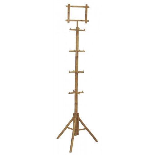 Bamboo rack with pos sign holder