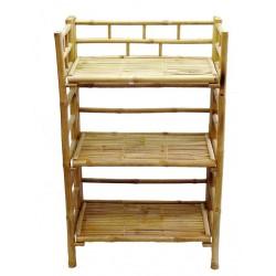 Bamboo 4 tier folding shelf