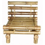 Bamboo Payang low chair with cushion