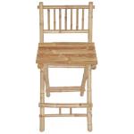 Bamboo folding bar stool