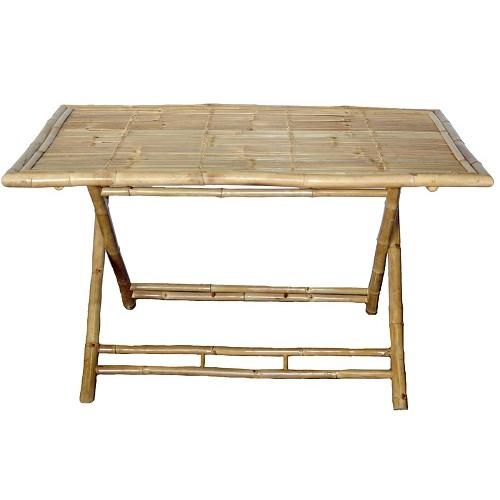 Bamboo large rectangular folding table