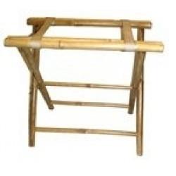 Bamboo luggage rack