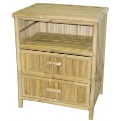 Bamboo table / night stand with 2 drawers