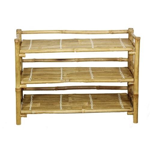 Bamboo shoe rack folding