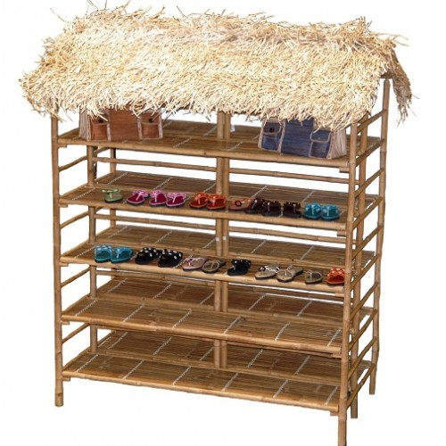 Bamboo double sided large thatch rack