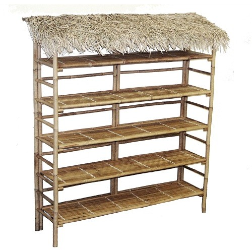 Bamboo large thatch rack