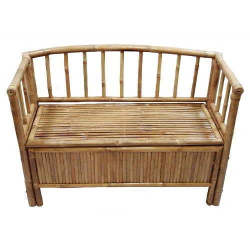 Bamboo bench with storage