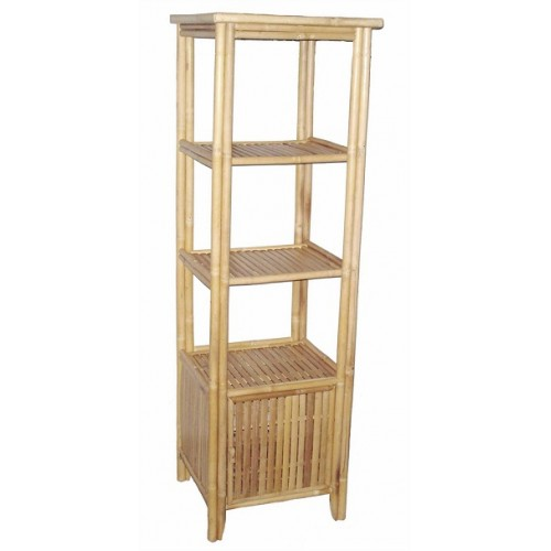 Bamboo rectangular shelf with bottom storage