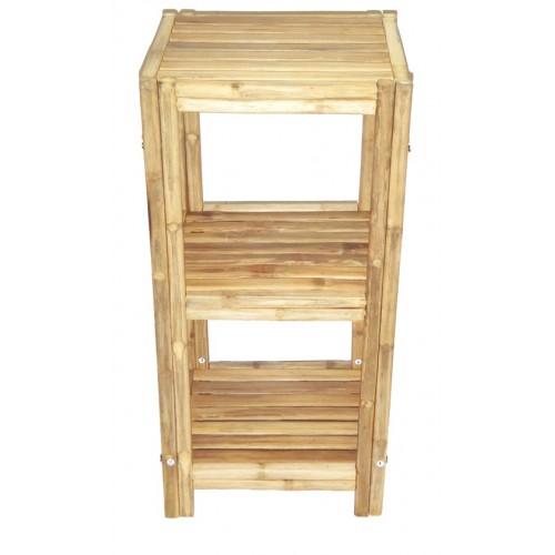 Bamboo 3 tier bath shelf square bamboo