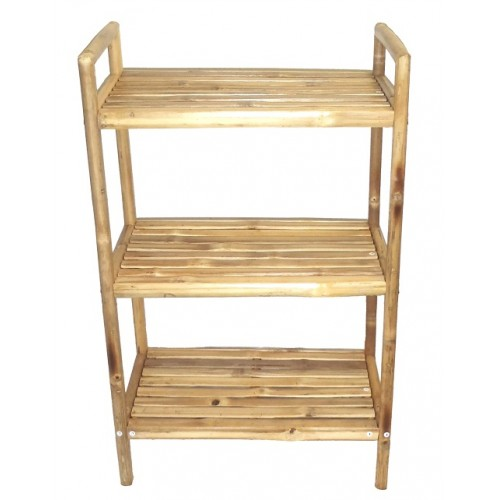 Bamboo 3 tier bath shelf