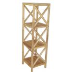 Bamboo 4 tier bath shelf