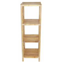 Bamboo 4 tier bath shelf