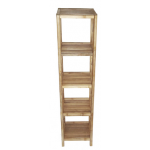 Bamboo 5 tier bath shelf
