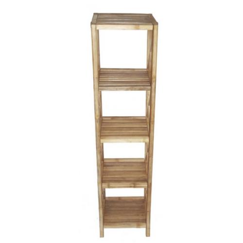 Bamboo 5 tier bath shelf