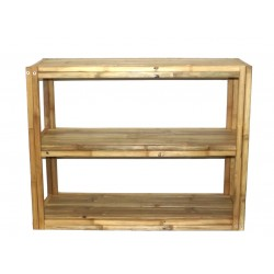 3 Tier Square Bamboo Rectangular Shelf