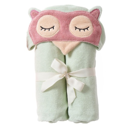 Sleepy Owl Bath Wrap
