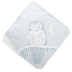 Grey Owl Hooded Towel