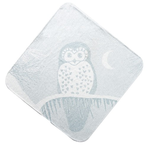 Grey Owl Hooded Towel