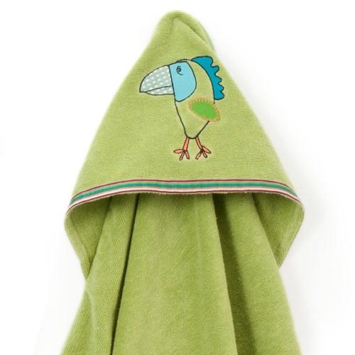 Funny Bird Hooded Towel